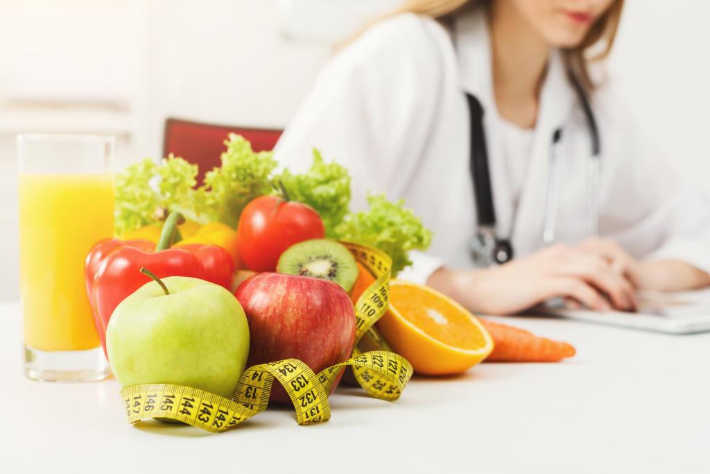 Nutrition expert concept