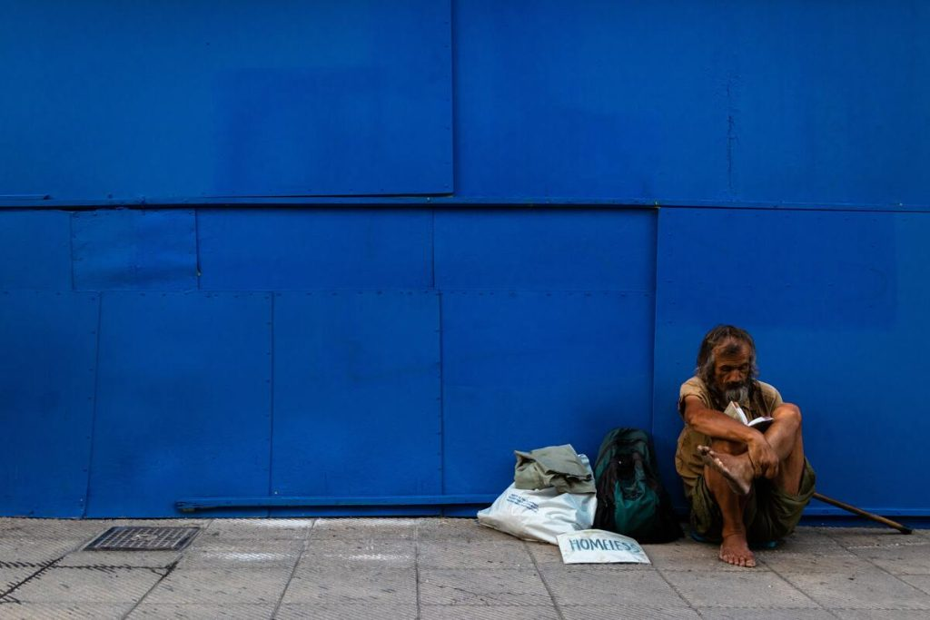 beggars in the street